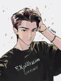 <credits to owner> Exo Anime, Anime Guys, Anime Art, Pretty Art, Cute Art, Aesthetic Art, Aesthetic Anime, Sehun, Exo Fan Art