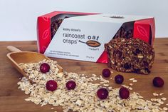 Cranberry Raincoast Oat Crisps. Our most popular flavour now comes in a wheat and nut free variety for all to enjoy. Perfect with a triple cream brie, fresh goat's cheese and prosciutto, or just as they are!