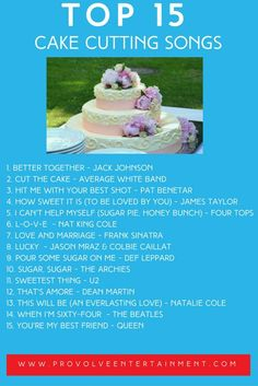 Awesome Singalong Songs Create The Best Wedding Memories I LOVE - Best Wedding Cake Songs
