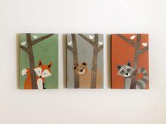 Woodland Creatures  Forest Animals  Woodland Nursery Art