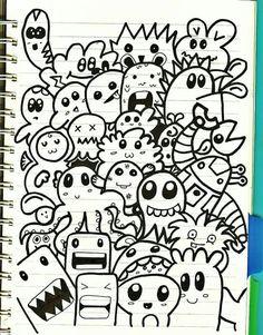 Black marker doodling.
