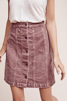 Gallery Corduroy Skirt, Red