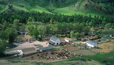 Most Beautiful Ranches | Eatons' Ranch, a Wyoming Dude Ranch, from above