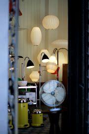bubble lamps in futura retro shop