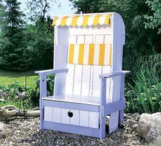 Stunning Entspannt sonnen im Garten Mit dem selbst gebauten Strandkorb kommt Urlaubs Feeling auf