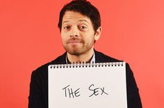 Who you gonna call?! Misha Collins (aka Castiel from Supernatural).