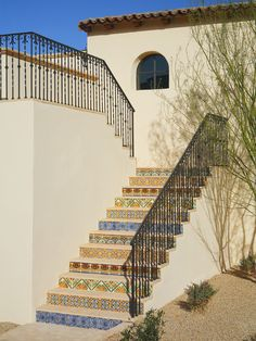 Tiled Stairs Design, Pictures, Remodel, Decor and Ideas