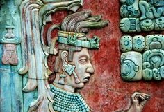 Bas-relief of K'inich Janaab' Pakal, Palenque, Mexico.