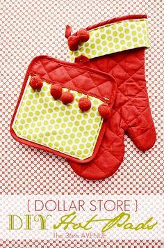 DIY:: Dollar Store Hot Pads