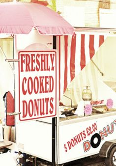 If you can't have a candy bar, you probably can't have a donut cart, but a girl can dream