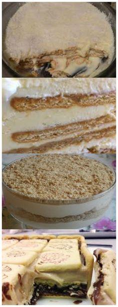 Torta de Biscoito DELICIAAA....  Licor cremoso 150 ml de vodca 1 lata de creme de leite #receita#bolo#torta#mousse#pudim#aniversario#casamento#pave#confeitaria#chessecake#chocolate#natal#anonovo#blackfriday