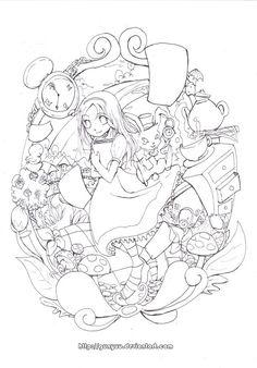 Alice In Wonderland By Sidoans