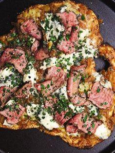 Black 'n' Blue Steak #Pizza #recipes
