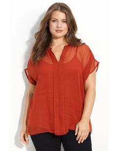 Warm hues are just what the doctor ordered for fall and this burnt orange is perfection. Wear this blouse with a high-waisted skirt and you'll be sure to stand out in a crowd.