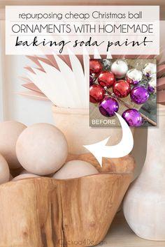 Cheap Christmas Ornaments, Christmas Balls, Ball Ornaments, Christmas Time, Christmas Crafts, Christmas Decorations, Xmas, Christmas Ideas, Dyi