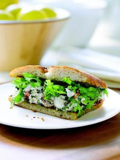 Mediterranean Halibut Sandwiches - made on ciabatta bread for the perfect crunch to compliment the plushness of the halibut filets.