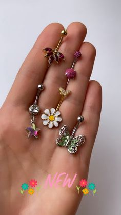 Sea Shell Dangle Iridescent Crystal Navel Ring Belly Bar UK Seller