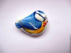 Купить птички и лаванда - разноцветный, птички на ветке, картинка в рамке, подарок на любой случай