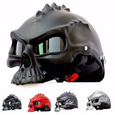 Skull Motorcycle Helmet - Skullflow  https://www.skullflow.com/collections/skull-helmets/products/skull-motorcycle-helmet