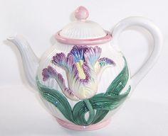 1991 Fitz Floyd Raised Tulip Teapot Tea Pot | eBay