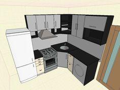 дизайн кухни в хрущевке: 3