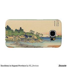 Enoshima in Sagami Province Mount Fuji Japanese Woodblock Print Samsung Galaxy S6 Cases