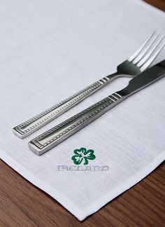Designed exclusively for Blarney Woollen Mills, this elegant placemat set of 2 is the perfect way to bring a piece of Ireland into the home. Woolen Mills, Placemat Sets, Irish, Elegant, Home Decor, Design, Classy, Decoration Home, Irish Language