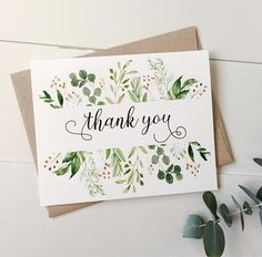 Thank you cards. Rustic Thank you cards. Weddings. Modern