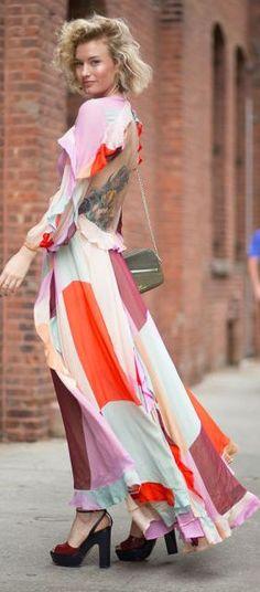 Wide Tattoo With Open Back Dress Best N Y F W Fall Inspo