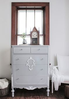 Spray paint furniture indoors and don't let the weather slow you down!