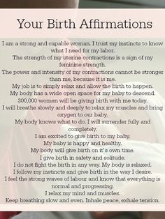 What you pack when you have your first baby and when you have your second is very different. Learn what you need and print out these handy birth affirmations.