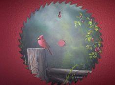 sawblade paintings | Painting on Saw Blade - WetCanvas