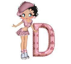 Alfabeto de Betty Boop afrancesada. | Oh my Alfabetos!