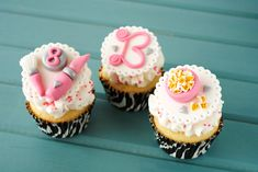 Girl Birthday Party Cupcake Toppers