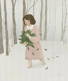 Illustrations By Jiwoon Pak | purple woods