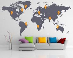 Drsticker office interior design, office interiors, corporate interiors, in Corporate Interiors, Office Interiors, Wall Stickers Home, Vinyl Wall Decals, World Map Wall Decal, Wall Maps, Office Interior Design, Modern Decor, Modern Art