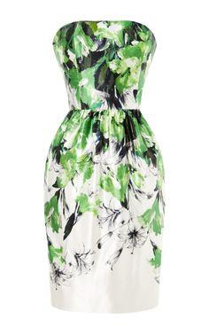 Strapless Bustier Dress With Gathered Skirt by Prabal Gurung - Moda Operandi
