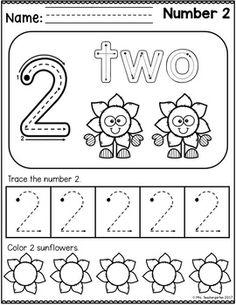 November Preschool Printables Kindergarten Math Worksheets, Preschool Curriculum, Preschool Printables, Preschool Activities, Number Worksheets, Maths, Numbers Preschool, Fall Preschool, Preschool Learning