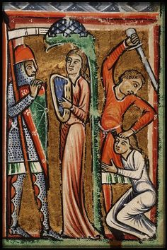 KB 76 F 5 Picture Bible Folio From France (exact location unknown) Holding Institution National Library of the Netherlands. Medieval Music, Medieval Armor, Medieval Fantasy, Art Roman, High Middle Ages, Medieval Paintings, Byzantine Art, Medieval Manuscript, Historical Art