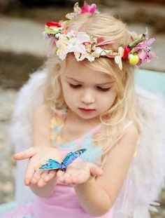 adorable little girl with blue butterfly Precious Children, Beautiful Children, Beautiful Babies, Little People, Little Ones, Little Girls, Cute Kids, Cute Babies, Butterfly Kisses