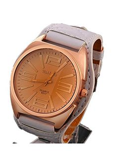 DAYAN New WoMaGe Frauen-Uhr-große Zifferblatt Quarzuhren Analog PU-Leder-Armbanduhr Goldkasten Farbe Weiß - http://uhr.haus/dayan/dayan-new-womage-frauen-uhr-grosse-zifferblatt-pu-2