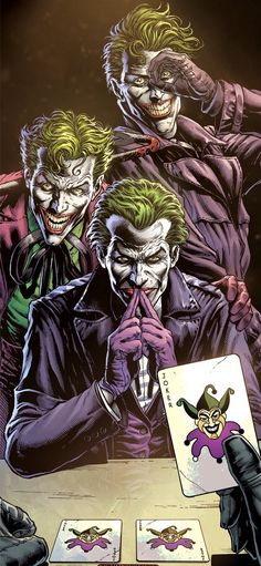 DC Comics and Geoff Johns reveal the first look and key details of their new comic book Batman: Three Jokers at San Diego Comic-Con Joker Comic, Joker Batman, Joker Pics, Joker Art, Batman Art, Batman Comics, Batman Games, 3 Jokers, Three Jokers