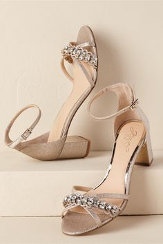 a9bb893e58699d BHLDN s Badgley Mischka Giona Block Heels in Gold Gold Block Heel Shoes