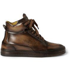 BerlutiPlaytime Leather High Top Sneakers