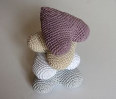 Crochet Hanging Hearts. Crochet decor. Home by maricatimonsina