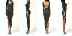 color gris carbón drapeado asimétrico falda minimalista sin respaldo jersey vestido maxi-imagen-XL Falda-Identificación del producto:1210127186-spanish.alibaba.com