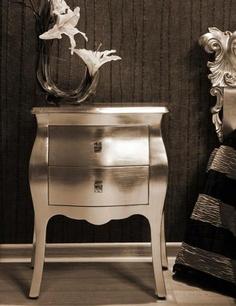 #metallic #bedroom #nightstand