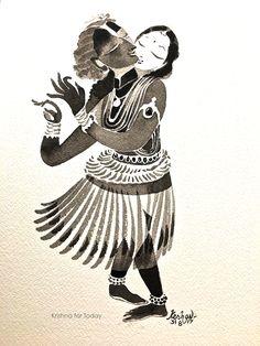 Radhakrishna #watercolour #krishnafortoday