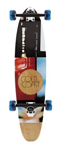 """Gold Coast Complete Roller (Fiber Glass) Longboard, Hour by Goldcoast. Save 48 Off!. $95.29. From the Manufacturer                It's hard to take a bad photo at dawn or dusk. Photographer's call it """"The Magic Hour"""". Once you shoot at that time of day, you'll know. Once you ride the Hour, our new 33.5"""" Roller you'll know why we named it after this perfect fleeting time. From the darkroom to the green room, The Overexposed has you covered. Its a 40"""" Drifter pin..."""