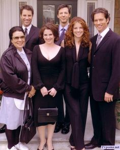 Shelley Morrison, (as Rosario Salazar), Eric McCormack (as Will Truman), Megan Mullally (as Karen Walker), Debra Messing as Grace Adler),  Sean Hayes (as Jack McFarland) and Harry Connick, Jr. (as Leo Markus) ~ Will & Grace ~ Publicity Photos